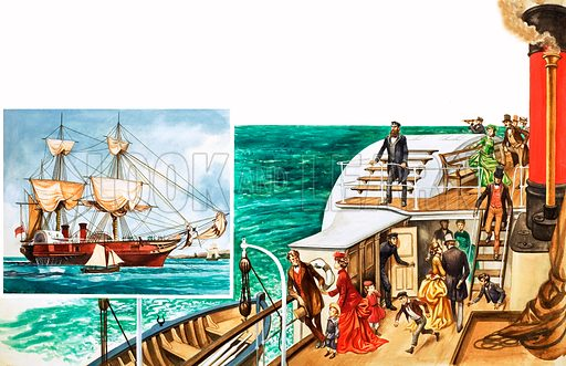 Once Upon a Time… passenger liners one hundred years ago. Original artwork from Treasure no. 276 (27 April 1968).