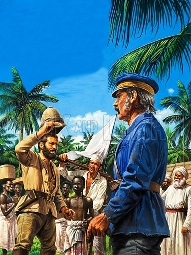 Henry Stanley greets David Livingstone.