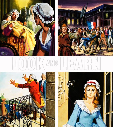 The French Revolution. Original artwork for Tell Me Why Annual 1970.