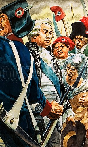 Louis XVI and the French Revolution. Original artwork for Tell Me Why Annual 1970.