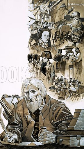 The Prophets: The Gentle Doctor Who Stunned the World. Nostradamus predicted the French Revolution, the rise of Napoleon and Oliver Cromwell, the Fire and Plague of London and much more. Original artwork from Look and Learn no. 519 (25 December 1971).
