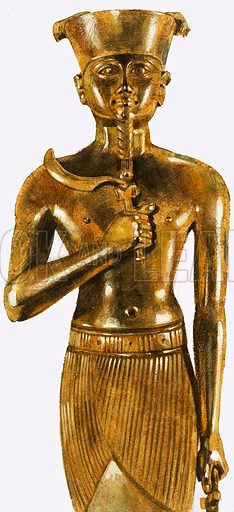 Gold statue of Amen, the most powerful of the Egyptian gods.