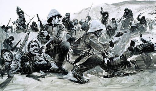 Battle of Maiwand, picture, image, illustration