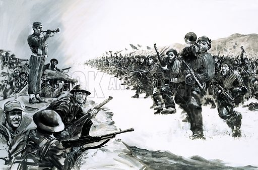 Day of Defeat: The Last Stand of the Glorious Glosters. In 1951, Lieutenant-Colonel Carne was ordered to hold a vital road against wave after wave of Chinese soldiers during the Korean War. Original artwork from Look and Learn no. 657 (17 August 1974).