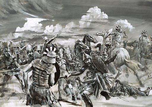 Victory at Gaugamela for Alexander the Great