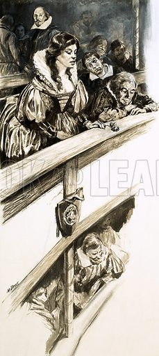 Shakespeare's Dark Lady, picture, image, illustration