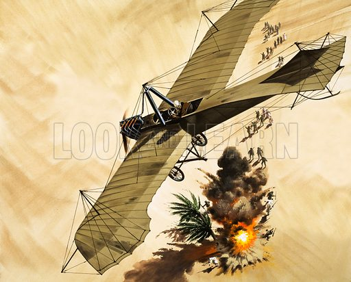 in 1911, Lt. Giulip Gavotti became the first man to drop a bomb from a plane.