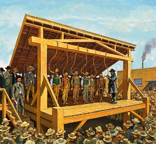 The Law of the West: The Hanging Judge. The massive gallows built on Judge Parker's orders which could have 12 men at a time.