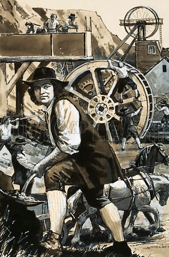 They Built a Better World: The Man Who Put Water to Work. It was not enough for canal-builder James Brindley to plan. He believed in getting down to work himself, often doing the job of a whole team of men. Original artwork from Look and Learn no. 513 (13 November 1971).