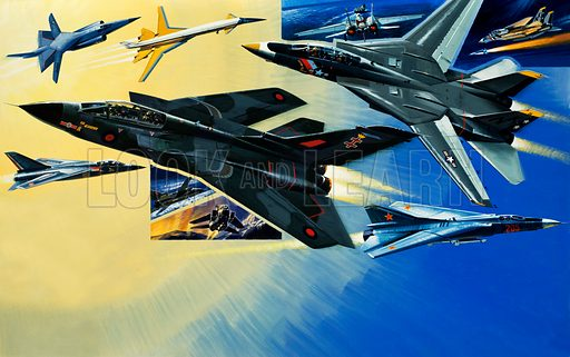 Modern aviation. Original artwork.
