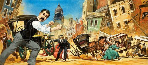 San Francisco Earthquake.  Original artwork.