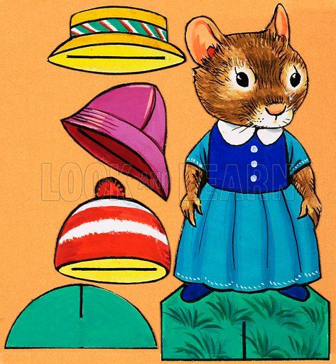 Mouse cut-out. Original artwork.