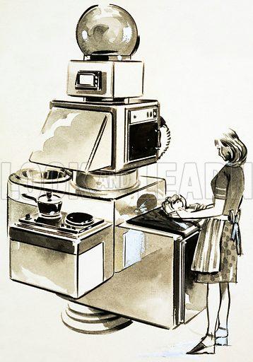Modern kitchen. Original artwork.