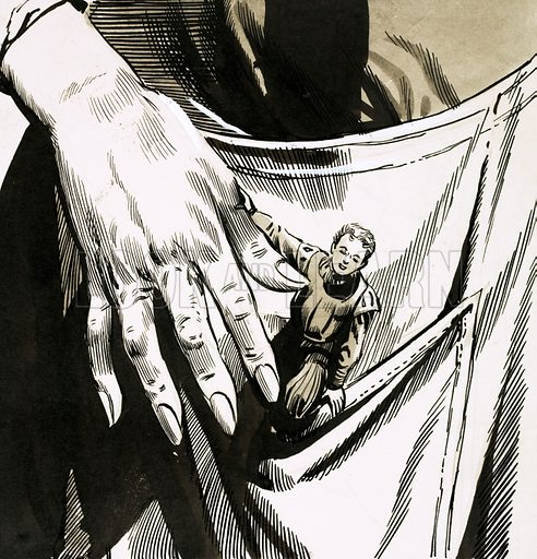 Tom Thumb. Original artwork from Robin no. 45.