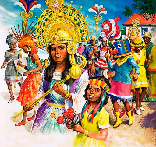 Trinidad carnival, picture, image, illustration