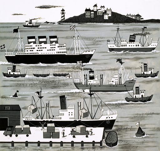 Harbour scene.