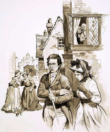 Charles and Mary Lamb, picture, image, illustration