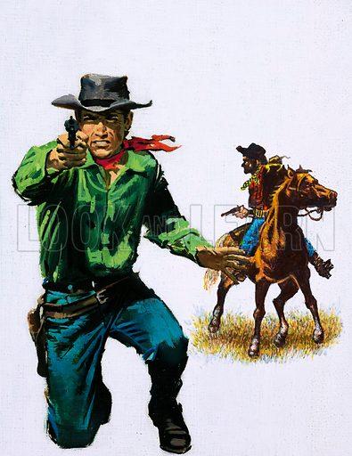 Cowboys. Original artwork.