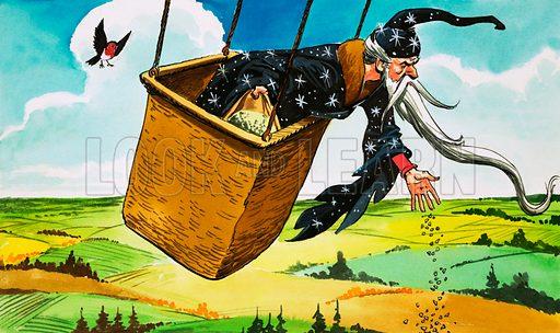 Princess Marigold. Original artwork from comic strip from Treasure (date unknown).
