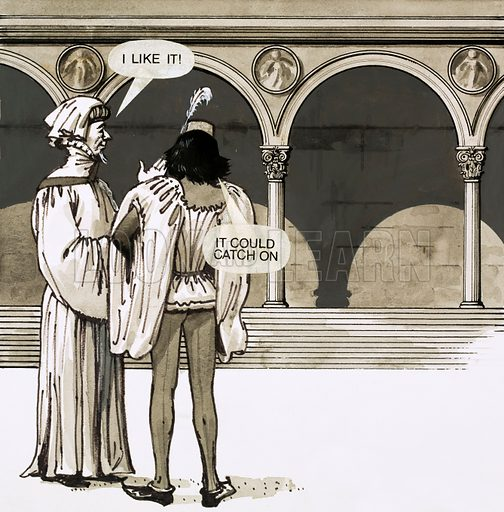Renaissance architecture. Cartoon.