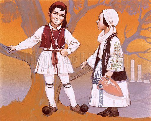 Greek children in their national costume.