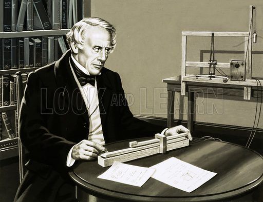 Samuel Morse. Original artwork from Look and Learn Book of 1001 Questions and Answers 1984.