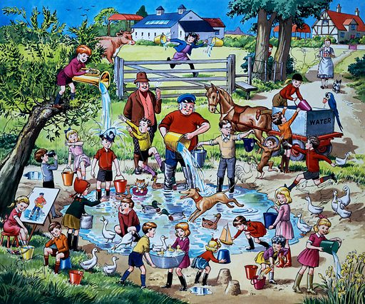 Farming scene (with hidden animals).