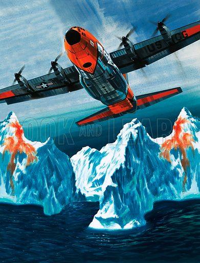 Into the Blue: Iceberg Patrol. A Lockheed Hercules patrolling icebergs for the Coast Guard.