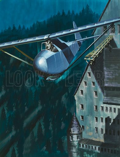Into the Blue: Plan for Escape. One of the most imaginative escape attempts from Colditz Castle was the plan to launch a glider which, although completed after more than a year's work, was never flown.