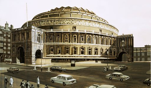 Why They Were Built: The Albert Hall. Original artwork from Look and Learn no. 441 (27 June 1970).