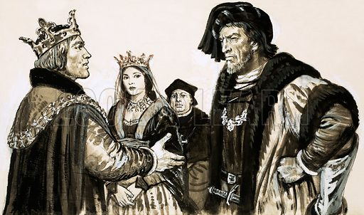 History's Heroes: The Maker of Kings. At the court of the French king, the Earl of Warwick met the woman who had long been his bitterest enemy, Margaret, the wife of Henry the Sixth. Original artwork from Look and Learn no. 572 (30 December 1972).