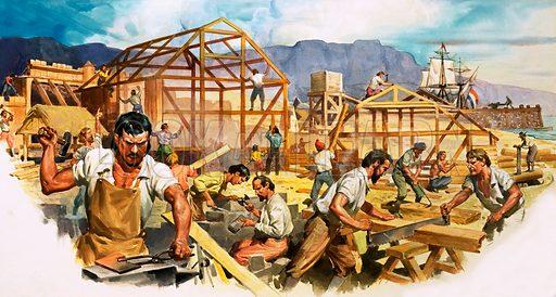Dutch settlers in South Africa.