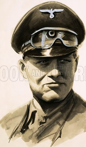 What Really Happened? Rommel: The Desert Fox. Field Marshal Rommel. Original artwork from Look and Learn no. 129 (4 July 1964).