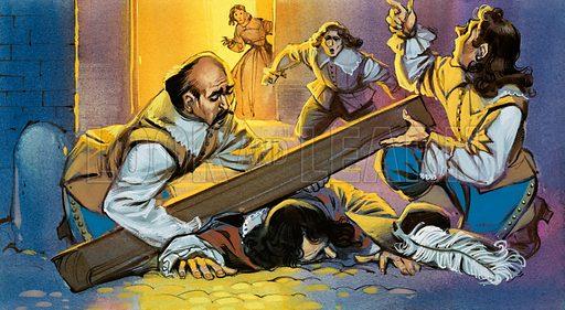 Death of Cyrano, picture, image, illustration