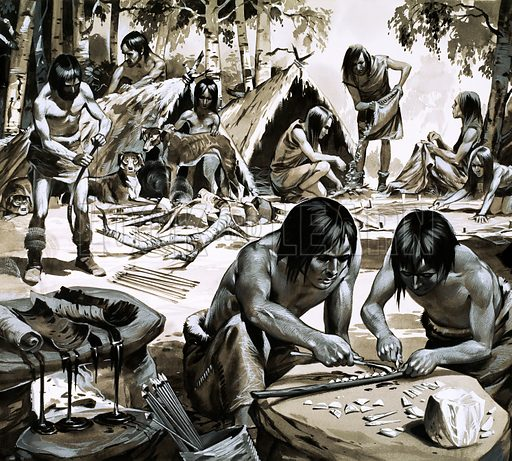 Primitive people of the time just after the end of the last Ice Age.