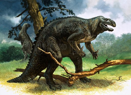 Iguanodon. Original artwork.