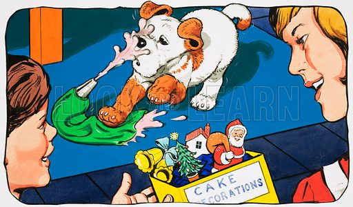 Paddy Paws. Original artwork for Jack and Jill (12 Dec 1981).