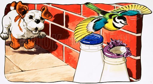 Paddy Paws. Original artwork for Jack and Jill (17 Oct 1981).