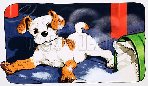 Paddy Paws. Original artwork for Jack and Jill (10 Oct 1981).