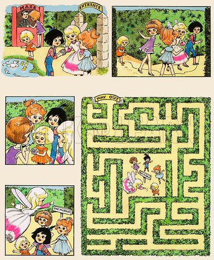 Maze. Original artwork for Playhour (22 June 1985).