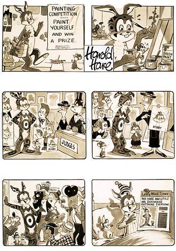 Harold Hare. Original artwork for Playhour.