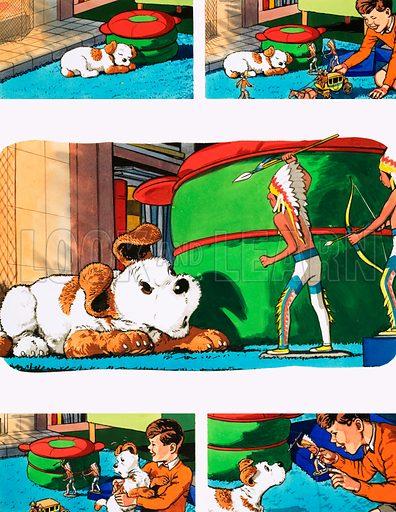 Paddy Paws. Original artwork for Teddy Bear magazine.
