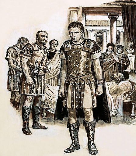 Discovering Our Cities: The City Founded on Faith (York). Among those present at the death of the Emperor Constantius Chlorus in York was his son, Constantine who, shortly after proclaimed himself Emperor of the Roman Empire. Original artwork from Look and Learn no. 629 (2 February 1974).