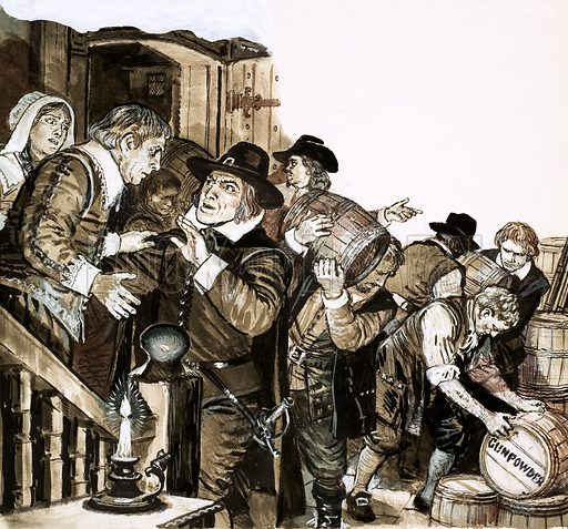 Treason: The Fanatics of the Fifth Monarchy. Seeing the gunpowder and ammunition being placed in his house as part of the plan to kill Oliver Cromwell, Ashton protested, but Thomas Venner assured him it would be removed the following day. Original artwork from Look and Learn no. 539 (13 May 1972).