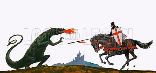 St George and the Dragon. Original artwork (L&L Book 83).