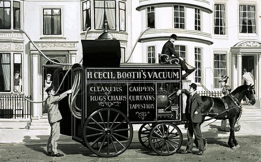 H Cecil Booth's Vacuum. A Victorian cleaning service. Original artwork (dated 25 April).