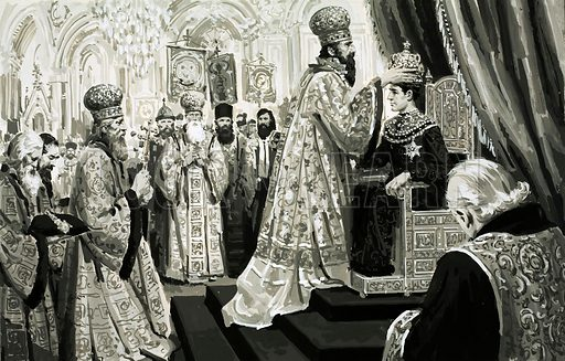 The Rise and Fall of the Romanovs: The Monster of Moscow. The coronation of Ivan as Czar was a stepping stone in Russian history. Original artwork from Look and Learn no. 594 (2 June 1973).