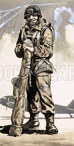 Unidentified soldier. Original artwork (dated 29 Aug).