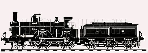 Unidentified train. Original artwork from Look and Learn (dated 13 Aug).