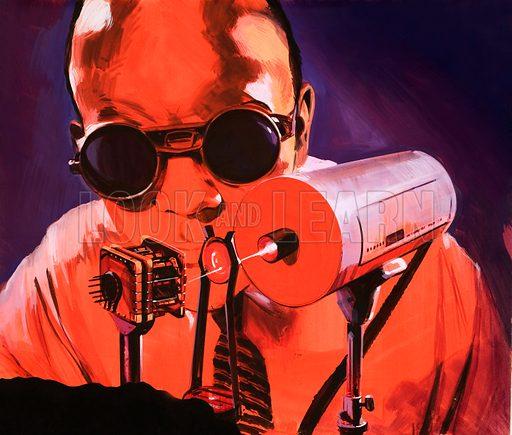 Laser. Original artwork (labelled 1001 Book).